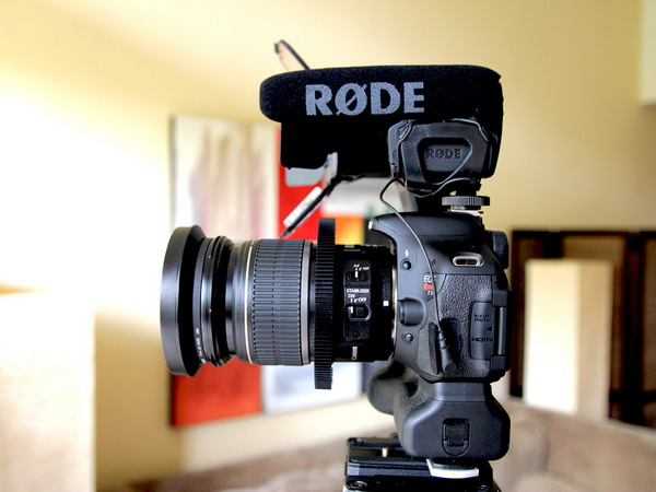 how to connect rode videomic pro